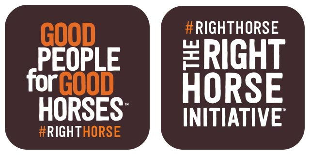 The Right Horse Social Badge 02